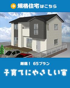 厳選65プランの規格住宅「子育てにやさしい家」